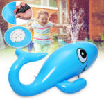 New Whale Inflatable Water Sprinkler Ride Lawn Swimming Pool Float Toys Kids Outdoor