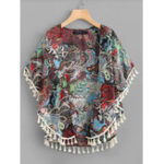 New Women Summer Batwing Sleeve Floral Beach Cardigans