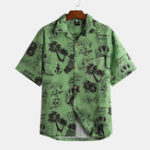 New Men Tropical Style Short Sleeve Hawaiian Shirts