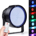 New 169 LED RGBW Stage 33W  Effect Light Par Lamp Club DJ Party Disco Lighting with Remote Controller