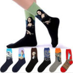 New Men's Mona Lisa Oil Painting Cotton Tube Socks
