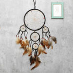 New Black Dreamcatcher Dream Catcher Feather Indian Wall Hanging Car Home Ornament Decorations