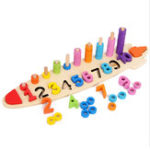 New Wooden Digital Shape Paired Cognitive Board Kids Baby Early Learning Education Development Toys