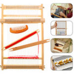 New DIY Traditional Wooden Weaving Loom Machine Pretend Play Toys Kids Knitting Craft