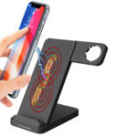 New 10W Dual Coils Qi Wireless Charger Fast Charging + Watch Holder For Qi-enabled Smart Phone iPhone Samsung Apple Watch