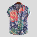 New Men Paisley Short Sleeve Relaxed Shirts