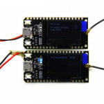 New 2Pcs TTGO LORA32 868Mhz ESP32 LoRa OLED 0.96 Inch Blue Display bluetooth WIFI ESP-32 Development Board Module With Antenna