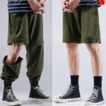 New Mens Switchable Long Pants Shorts Fashion Cargo Trousers