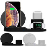New Bakeey 3 in 1 Fast QI Wireless Charger Stand Dock For iPhone 8 X XS Watch iwatch Airpod