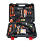 New 105Pcs 12V Electric Screwdriver Drill 15+1 Gear Double Speed LED Rechargeable with Lithium Battery