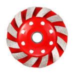 New 100mm Segment Diamond Grinding Wheel Disc Concrete Masonry Stone Marble Sanding Wheel Red