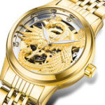 New TEVISE 9006 3D Phoenix Display Automatic Mechanical Watch