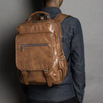 New Men Retro Leisure Large Capacity Backpack