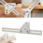 New Multi-function Woodworking Triangle Ruler Angle Ruler Revolutionary Carpentry Tool Measuring Tool