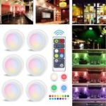 New 3pcs 6pcs Colorful LED Cabinet Lamp Hallway Counter Kitchen Display Light with Remote Controller