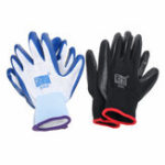 New 12Pair Safety Work Gloves Gardening Builder Mechanic Rubber Nitrile Coated Nylon