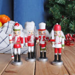 New Wooden Nutcracker Doll Soldier Vintage Handcraft Decorations Christmas Craft Gifts