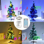 New Battery Powered Voice-activated 5M 10M LED Christmas Party Fairy String Holiday Light Indoor Decor