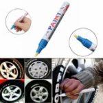 New 2Pcs Blue Color Tyre Permanent Paint Pen Tire Metal Outdoor Marking Ink Marker Trendy