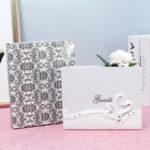 New 25 x 20cm Wedding Guest Book Decor Supplies Wedding Party Signature Book Elegant Bride Bridegroom Butterfly Resin