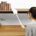 New Telescopic Handle Cleaner Microfibre Mop Floor Cleaning Brush Extendable Sweeper House Wet Dry Duster 270° Rotate