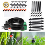 New Automatic Drip Irrigation System DIY Micro Drip Garden Watering Adjustable Plant Water Hose Automatic Kits (15M tubing set)