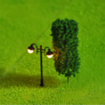New 5Pcs Mini Street Light Lamp Resin Craft Antique Imitation Fairy Garden Home Miniature DIY Micro Landscape
