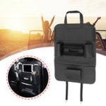 New 700 X 400mm Black Leather Car Seat Back Storage Organizers