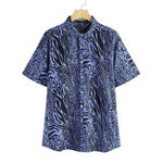 New Mens Leopard Printing Short Sleeve Summer Fashion Shirts