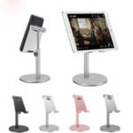 New Bakeey Aluminum Alloy Height Adjustable 360 Degree Rotation Phone Holder Tablet Stand For 4-11 Inch Smart Phone Tablet