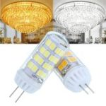New AC100-240V 4.5W No Strobe Ceramic G4 52LED Corn Light Bulb for Ceiling Chandelier Lamp Replacement