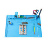 New BEST S-160C High Temperature Heat Insulation Silica Gel Working Pad BGA Soldering Repair Station Magnetic Adsorption