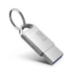 New DM 32GB USB 2.0 Waterproof Aluminum USB 2.0 Flash Drive Pen Drive U Disk with Key Ring