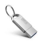 New DM 32GB USB 2.0 Waterproof Aluminum USB 2.0 Flash Drive Pen Drive U Disk with Key Ring