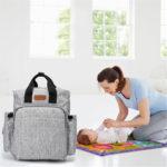 New 23L Mummy Backpack Waterproof Baby Nappy Diaper Bag Shoulder Handbag Outdoor Travel