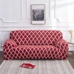 New 1/2/3/4 Seater Red Elastic Sofa Chair Covers Slipcover Settee Stretch Floral Couch Protector