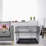 """New 2019 Hot Selling Wholesale Cheap Metal Iron Welding Wire Mesh Metal Pet Dog Door Kennels Cage For Sale 36"""" Dog Crate"""