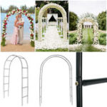 New 95″ Iron Arch Way Assemble Door Wedding Party Bridal Prom Garden Floral Decorations