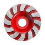 New 90mm Segment Diamond Grinding Wheel Disc Concrete Masonry Stone Marble Sanding Wheel Red