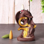 New Dragon Waterfall Backflow Cone Incense Burner Ceramic Smoke Censer Holder Decorations