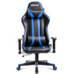 New Merax Office Chair Ergonomic High Back Racing Gaming Chair Computer Chair PU Leather Adjustable Height Rotating Lift Chair Folding Chair