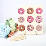 New DIY Doughnut Rack Donut Holds Storage Racks Donut Wall Stand Wedding Party Decorations