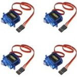 New 4PCS SG90 Mini Gear Micro Servo 9g For RC Airplane Helicopter