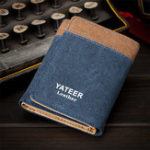 New Men Canvas Tri-fold Short Wallet Coin Holder Card Holder