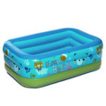 New 150x105x55cm Baby Bath Swim Tubs Newborn Thickening Children Cartoon Portable Safety Inflatable Swimming Pool