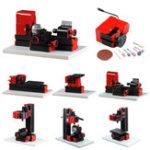 New Raitool® 8 In 1 Multipurpose Wood Model Making DIY Tool Basic Lathe Milling Drilling Sanding Tools Kit