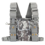 New Radio Walkie Talkie Chest Pocket Harness Bag Backpack Holster Pouch Camouflage