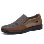 New Mesh Cloth Breathable Hollow Out Business Casual Oxfords