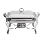 New 1PC 6L Thick Square Stainless Steel Buffet Stove For Cooking Food Constant Temperature Storage