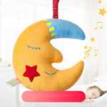 New Yellow Moon Good Night Music Baby Bell Toy Kids Children Gift Room Decoration Stuffed Plush Toys